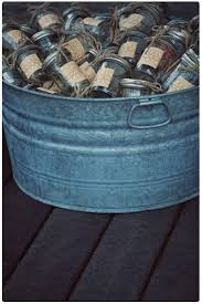 round silver Galvanized Buckets made of metal for storage ideas