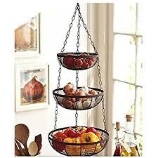 3 Tier Hanging Fruit Basket (Black)