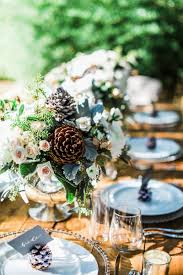 Pine Cone Wedding Table Decorations Winter Wedding Inspiration With Pine Cones Ruffled