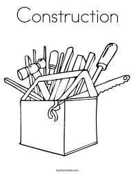 Small Picture Construction Coloring Page Twisty Noodle