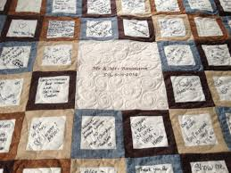 A guest book quilt is a wonderful way to keep memories of who was ... & wedding guest book signature quilt Rockwell Catering and Events Adamdwight.com