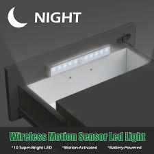 2 Stks 10 Led Nachtlampje Draadloze Auto Motion Sensor Licht