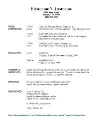 Free Printable Resume Examples - Shalomhouse.us