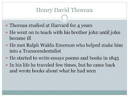 henry david thoreau henry david thoreau was born  3 henry