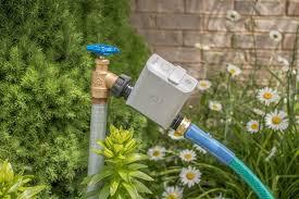 garden hose faucet. Bhyve-hose-faucet-timer-lifestyle Garden Hose Faucet F