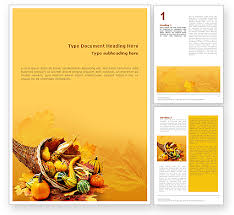Thanksgiving Word Template 01615 Poweredtemplate Com
