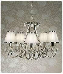 luxuria 5lt chandelier with white shades