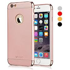 iphone 6 gold case. iphone 6s case, vansin 3 in 1 ultra thin and slim hard case coated non iphone 6 gold amazon.com