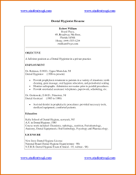 Resume Objective Dental Hygienist Resume Cover Letter Example