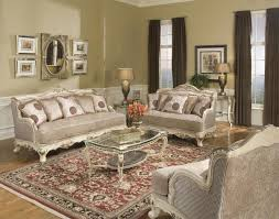 Traditional Living Room Furniture Pewter Fabric Traditional Living Room W Carved Wood Frame