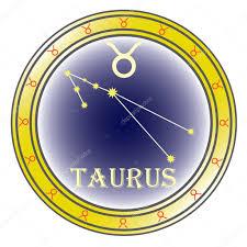татуировка золотой телец телец знака зодиака векторное