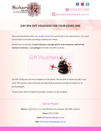 day spa gift vouchers for your loved one n