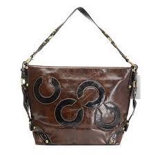 Coach Julia Big C Medium Coffee Shoulder Bags EGT