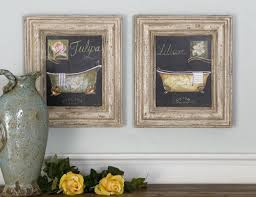 mediterranean gold framed wall art