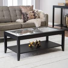 coffee table  coffee table with black base narrow glass coffee