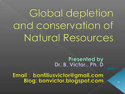 global depletion and conservation of natural resources
