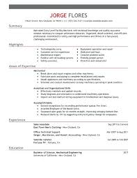 Entry Level It Resume Examples Gorgeous Entry Level It Resume Examples Entry Level Mechanic Resume Sample