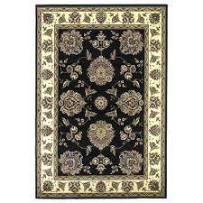 kas oriental rugs cambridge black ivory fl mahal round 7 ft 7 in rug cam733977x77 bellacor