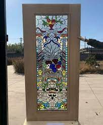hand made leaded stained glass mahogany