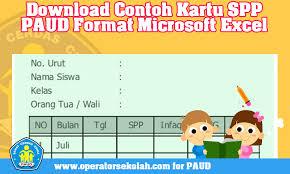 Cara mengisi kartu kendali sispena youtube. Download Contoh Kartu Spp Paud Format Microsoft Excel Operator Sekolah