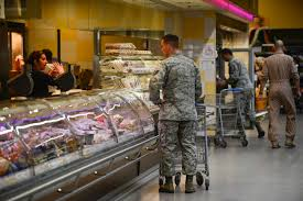 customers at the missary on ramstein air base germany br joshua