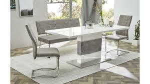 Tischgruppe Carlos Keras Turin Esszimmer Vintage Grau Weiß