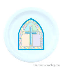 glass cross blue cross stained glass window paper plates for first communion communion at fused