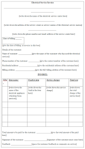 Template For Invoice For Services Invoice Template
