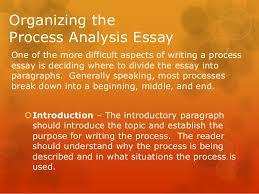 process analysis essay 9 organizing theprocess analysis