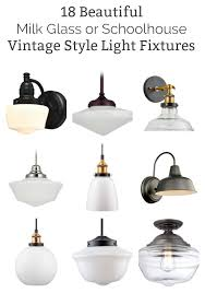 vintage style lighting fixtures. 18 Of The Best Vintage Style Milk Glass And Schoolhouse Light Fixtures On Amazon. While Lighting B