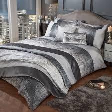 heidi crushed velvet glitter shimmer duvet cover set bedding range