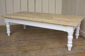 For parts or not working. Bespoke Reclaimed Old Pine Scrub Top Coffee Tables