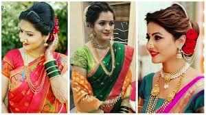 maharashtraian bridal makeup jewellery looks marathi brides maharashtraian nauwari saree