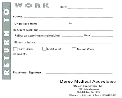 Doctor Excuse Note Template Fake Doctors Note Template