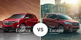 chevy equinox vs ford escape small