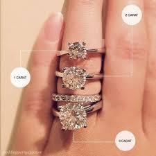 1 carat diamond size good diamond size for engagement ring sparta rings