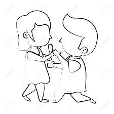かわいい子供たちの愛する漫画アイコン ベクトル イラスト グラフィック デザイン