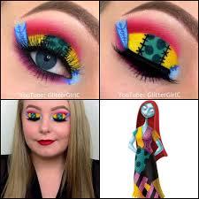 the nightmare before sally makeup look