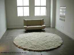 round rug huge 8 round natural white authentic rug hand made pile