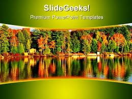 Fall Forest Nature Powerpoint Template 1110 - Powerpoint Themes