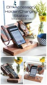 Make Charging Station How To Make A Diy Accessory Holder Charging Station From Scrap