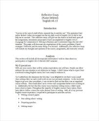 essay in doc simple reflective essay