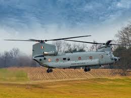 Iaf Indian Air Force Inducts Combat Ready Chinook Helicopters