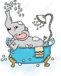 かわいい象のお風呂のイラスト素材・ベクタ - Image 88178340.