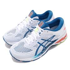 Details About Asics Gel Kayano 26 White Lake Drive Blue Men Running Shoes Sneaker 1011a541 100
