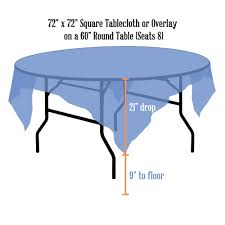 what size overlay for a 60 round table tablecloth als linen sizing chart