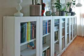 bookcase with glass doors ikea billy door bookcases review