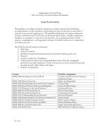 Gallery Of Social Work Resume Example