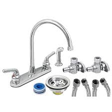 convert two handle faucet to single handle cost to install kitchen sink plumbing how to replace copper pipe with flexible how to change a bathroom faucet