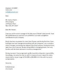 Salary Requirements Cover Letters Templates Bash